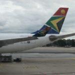 L'avion de la compagnie South African Airlines