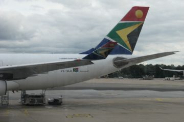 L'avion de la compagnie South African Airlines
