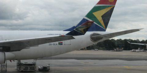 notre avion pour l'Afrique du Sud