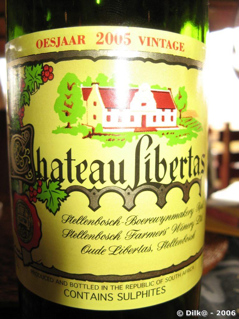 vin d'Afrique du Sud : « Le château Libertas »