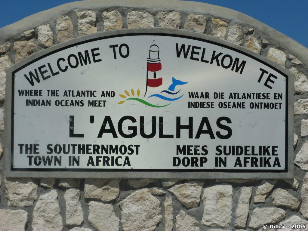 le Cap Agulhas, le point le plus au sud de l'Afrique