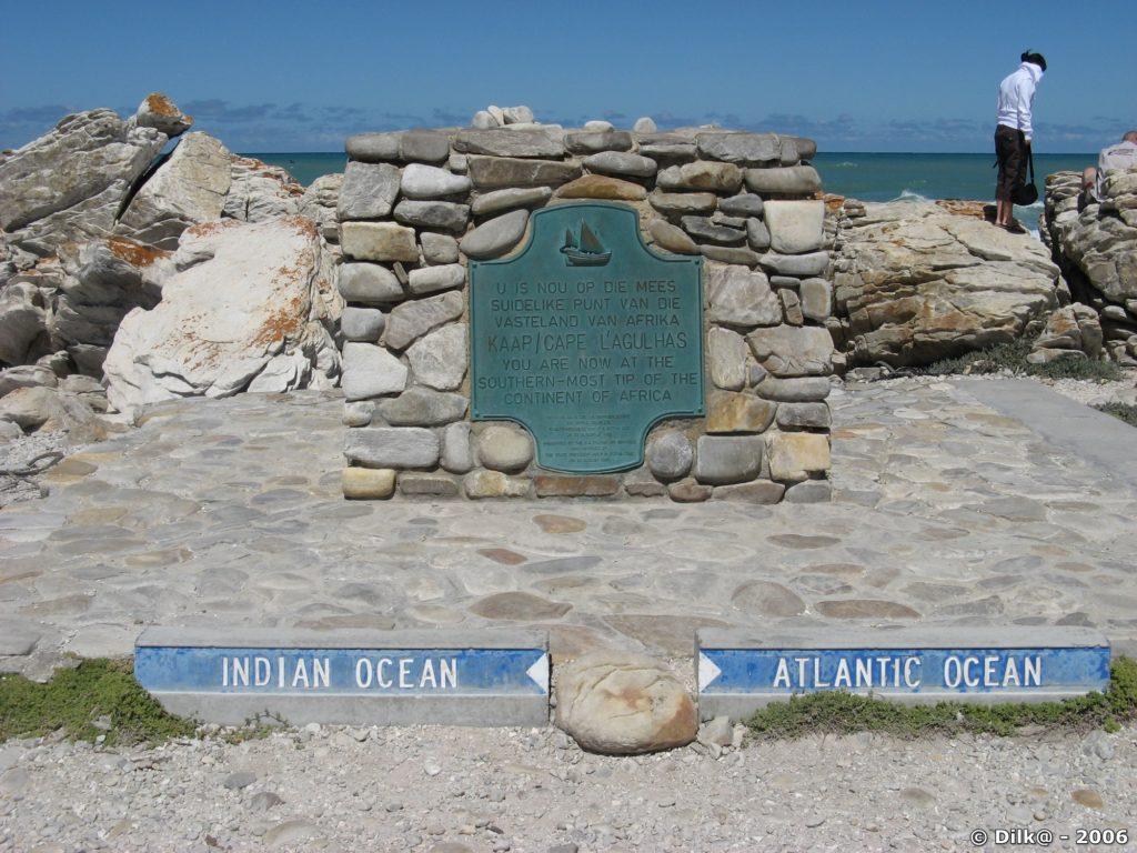 Le Cap Agulhas, où l'océan indien rencontre l'océan atlantique