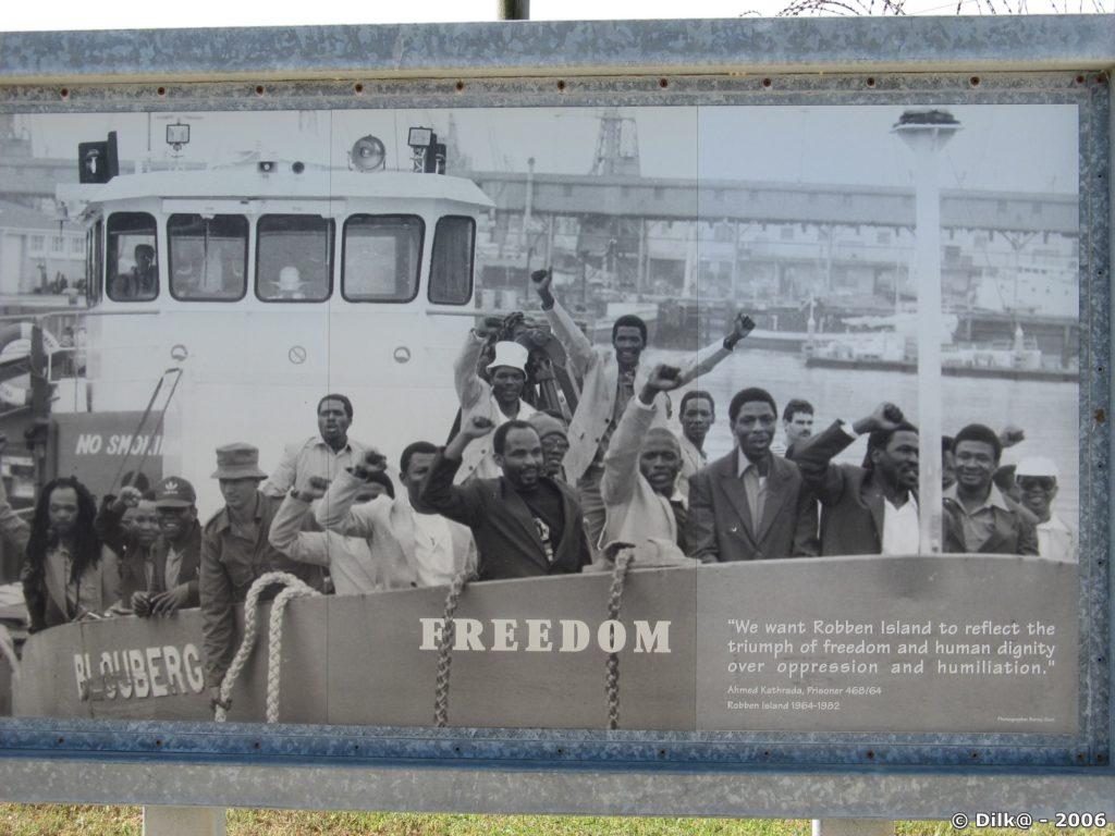 Photos de prisonniers politiques pendant l'appartheid