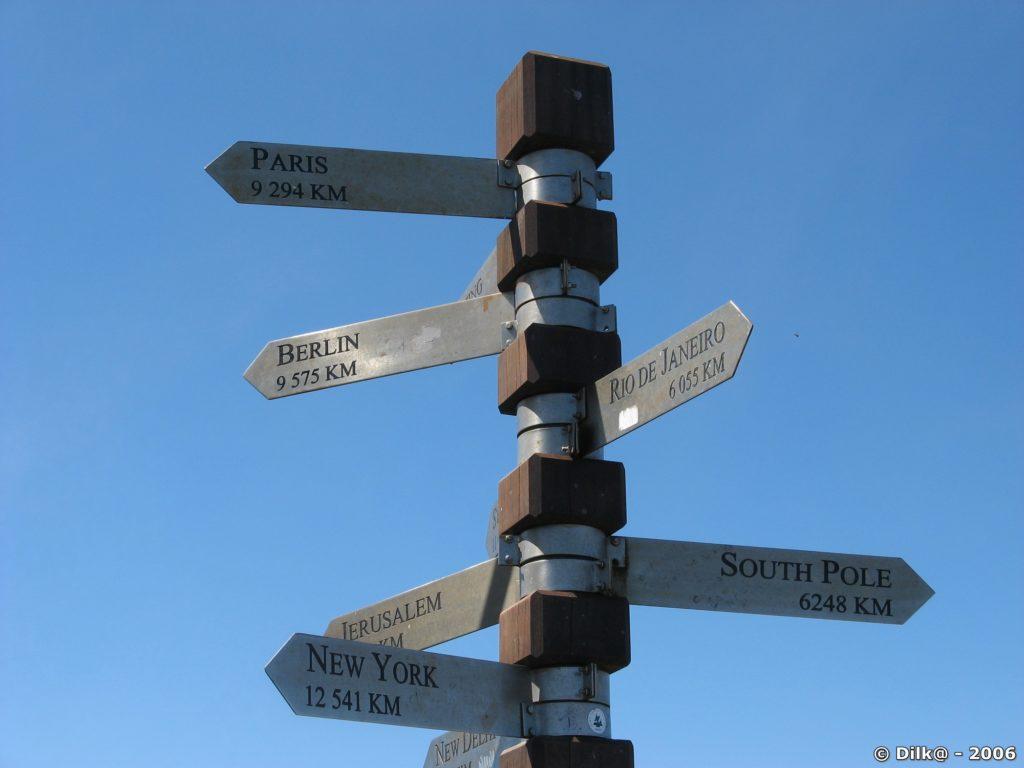 Indications à l'entrée du parc de la Table Mountain