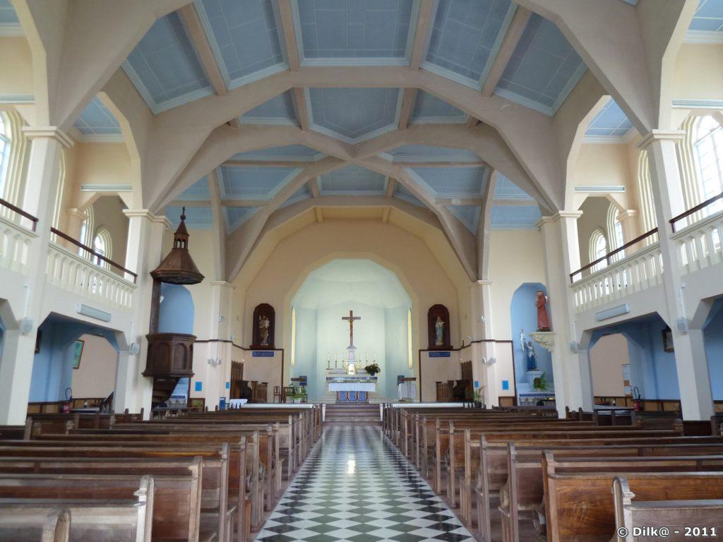 l'intérieur de l'église de Cilaos
