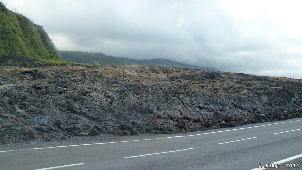 la coulée de lave de 2007