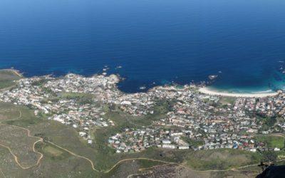 Vue sur le Cap depuis Table Mountain