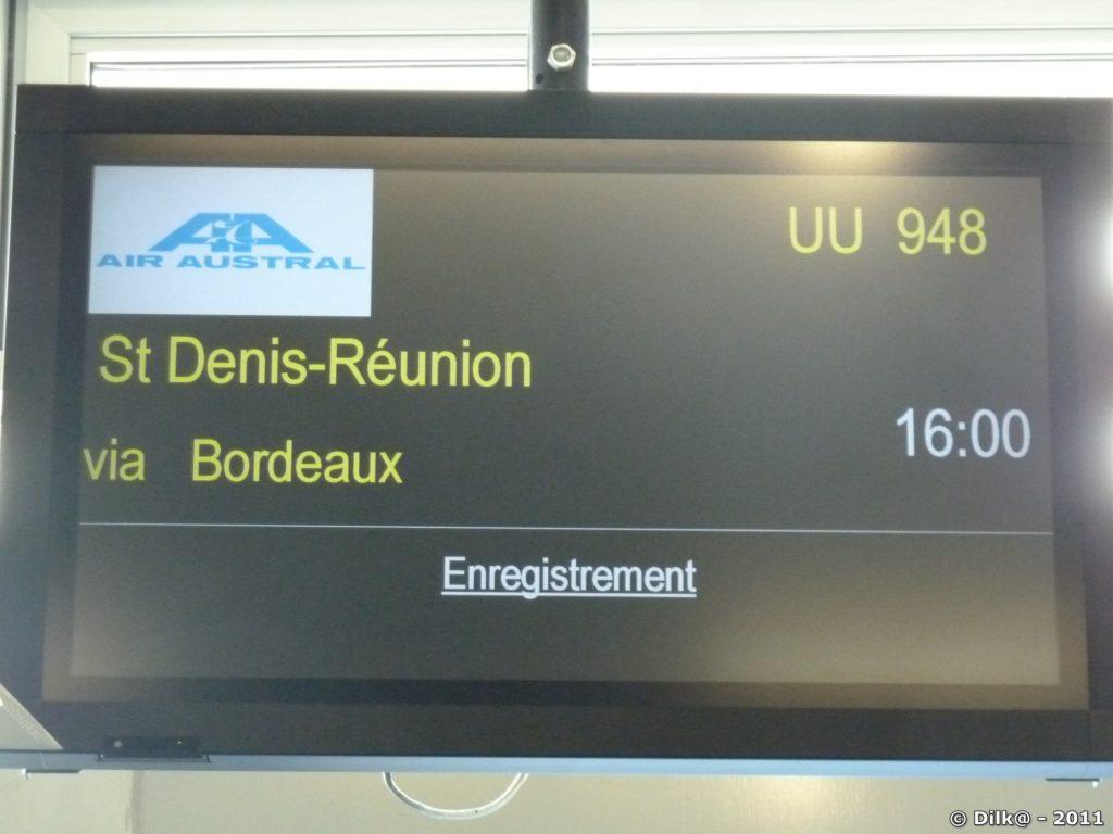 Enregistrement pour Saint-Denis de la Réunion