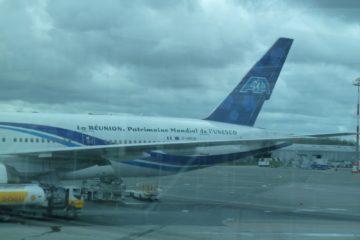Boeing 777 avec «La réunion, patrimoine mondial de l'Unesco»