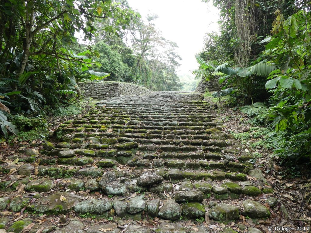 chaussée empierrée (Monumento Nacional Guyabo)