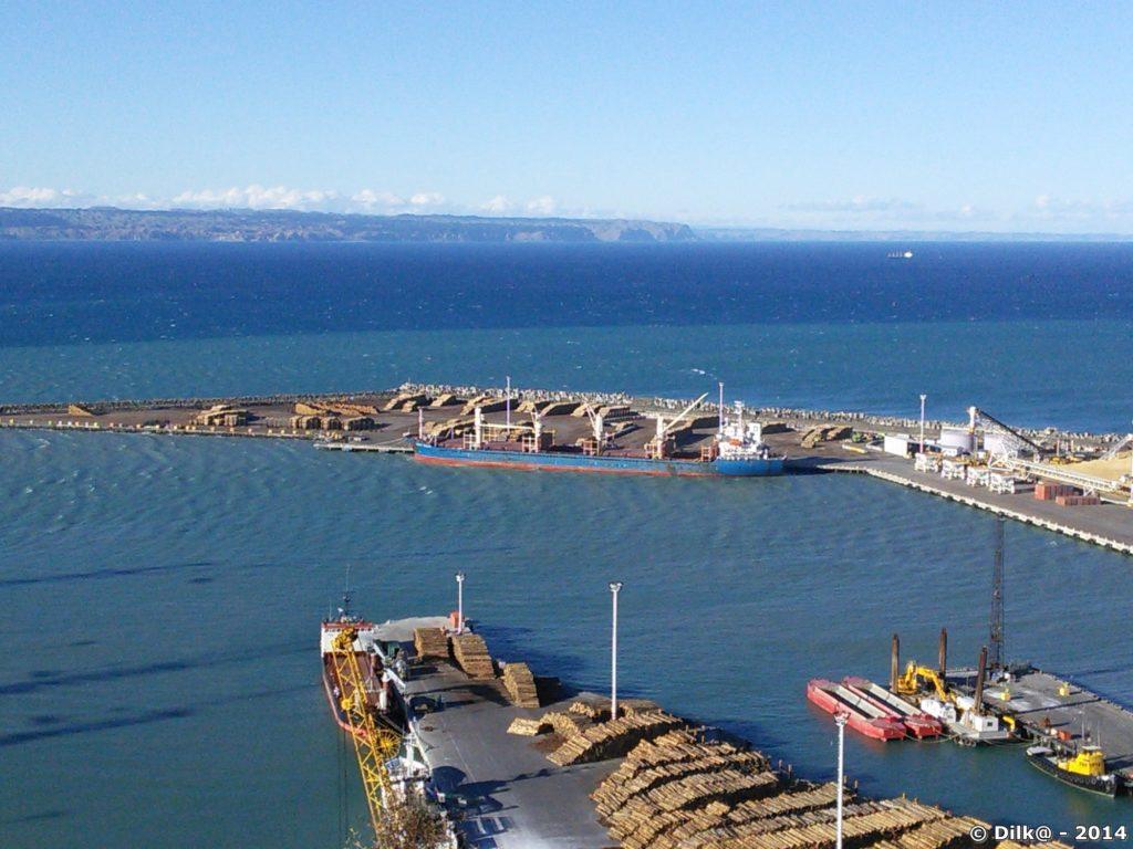 Le port de Napier et la vue depuis Bluff Hill