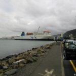 Le ferry dans le port de Wellington
