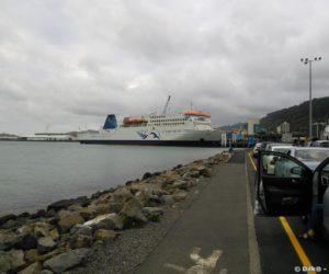 Le ferry dans le port de Wellington