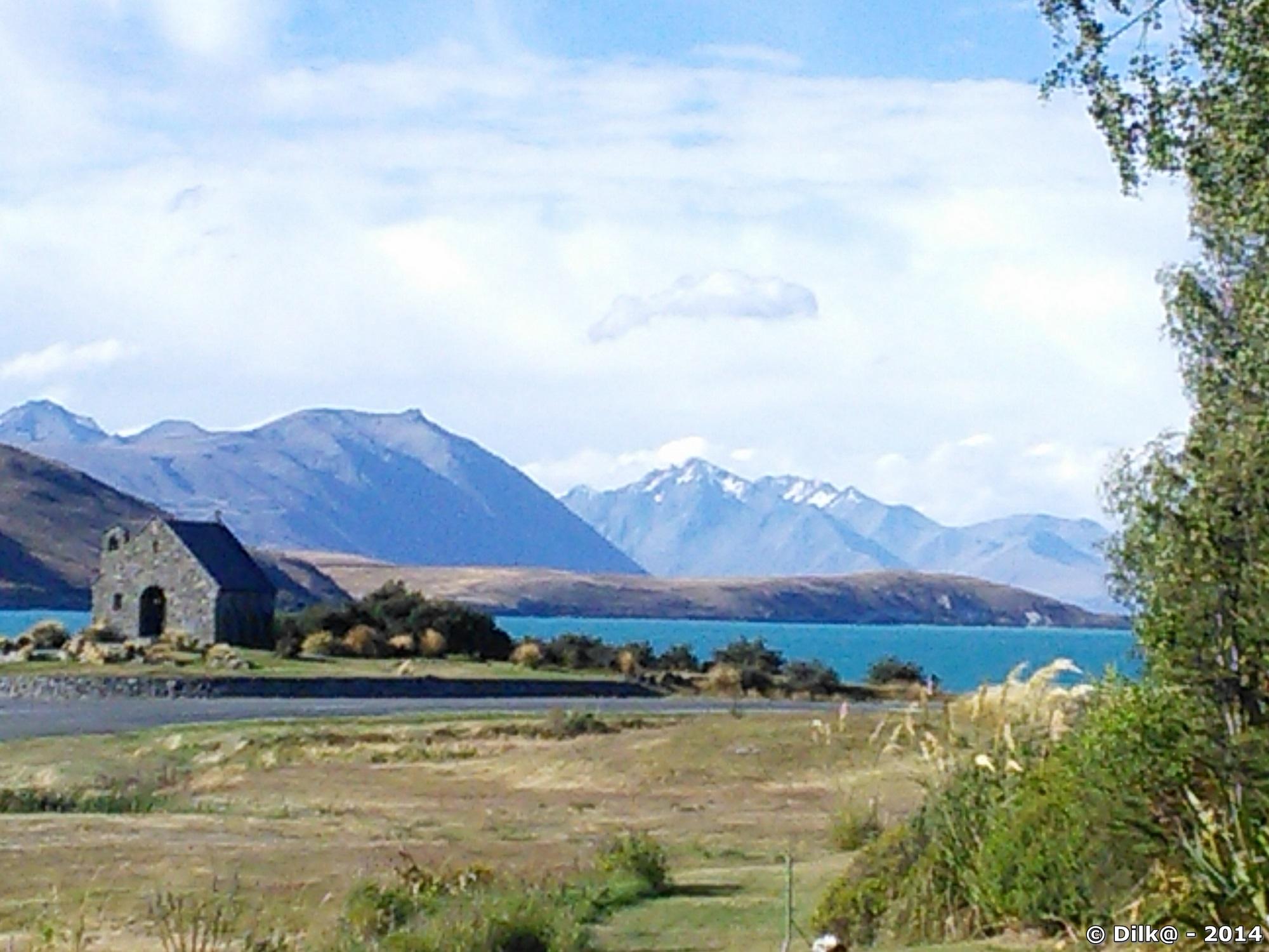 Le lac Tekapo et Church of the good Shepherd