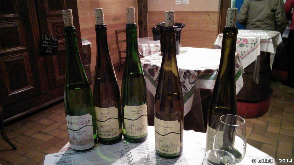 Dégustation de vins d'Alsace
