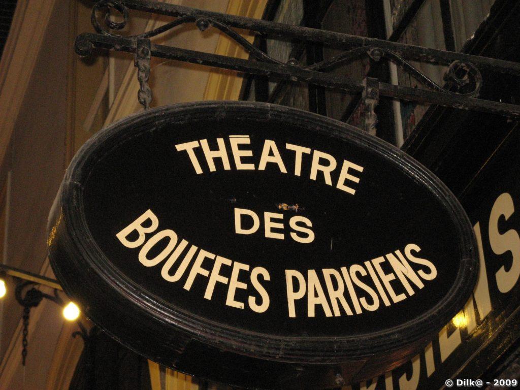 Enseigne du théâtre des bouffes parisiennes
