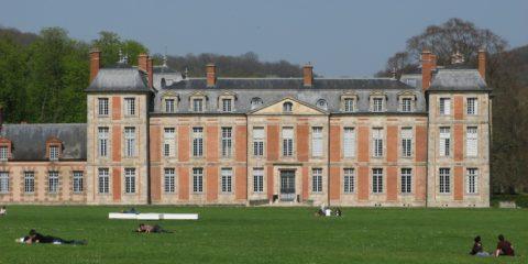Vue du parc du château