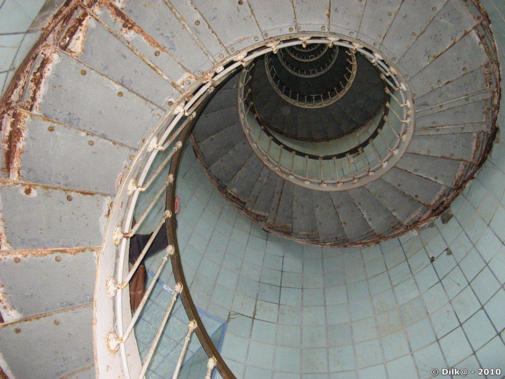 248 marches pour arriver au sommet du phare