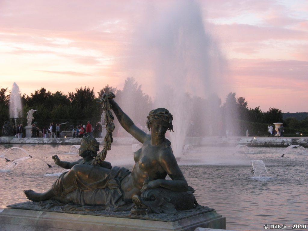Jet d'eau au bassin d'Apollon
