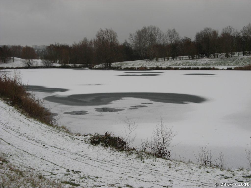 Promenade le long des étangs de Cergy