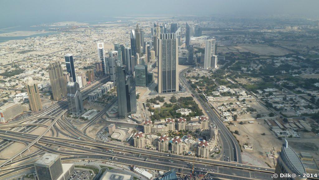 La vue du haut de la tour Burj Khalifa