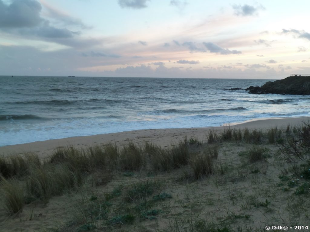 La dune et la plage se sont rejoint