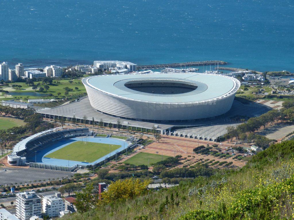 Le stade de football de Cape Town, construit pour la coupe du monde de 2010