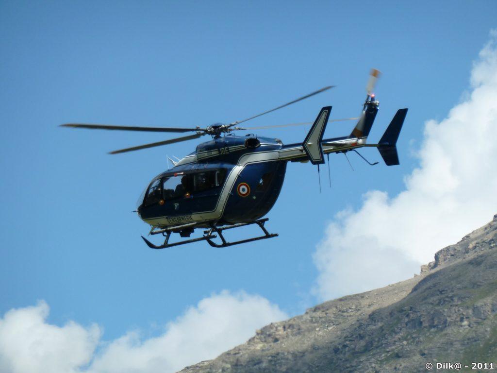 Démonstration de secours en montagne par le PGHM de Modane