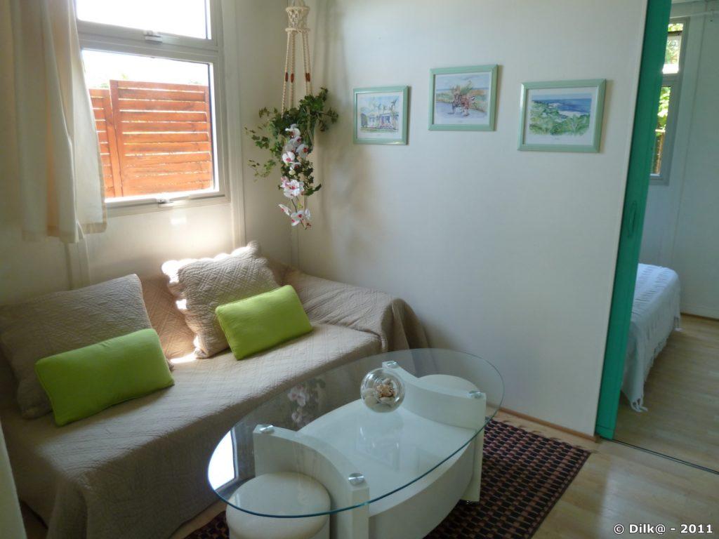 Salon de notre bungalow
