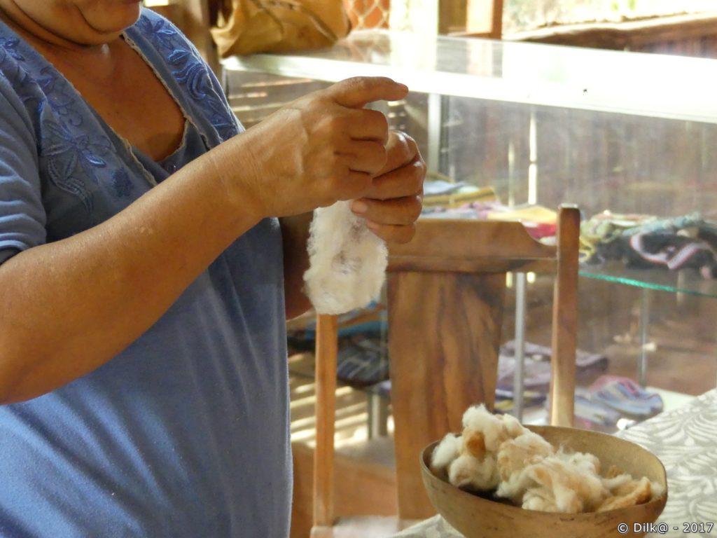 préparation du coton
