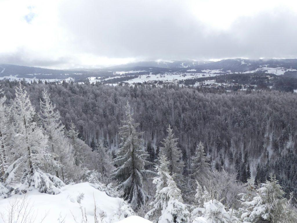 Point de vue depuis la Roche Blanche
