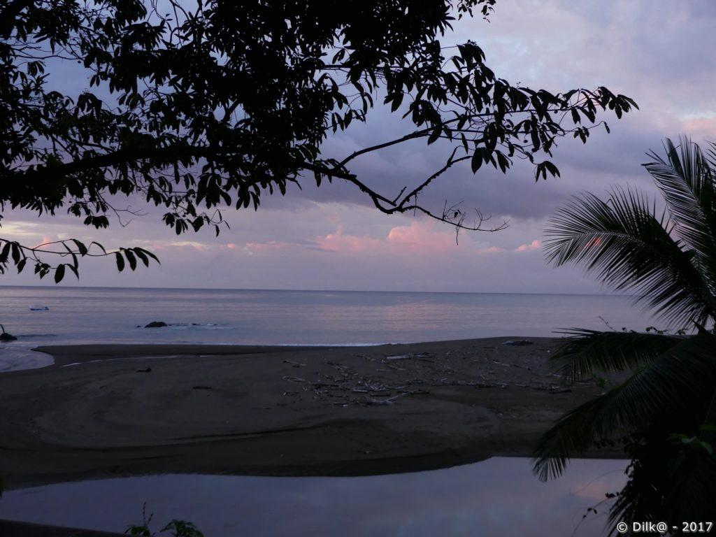 coucher du soleil vue depuis notre chambre