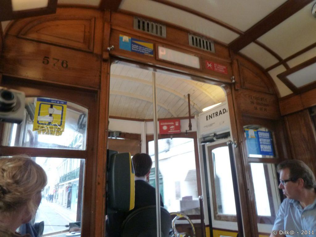 La cabine du tramway