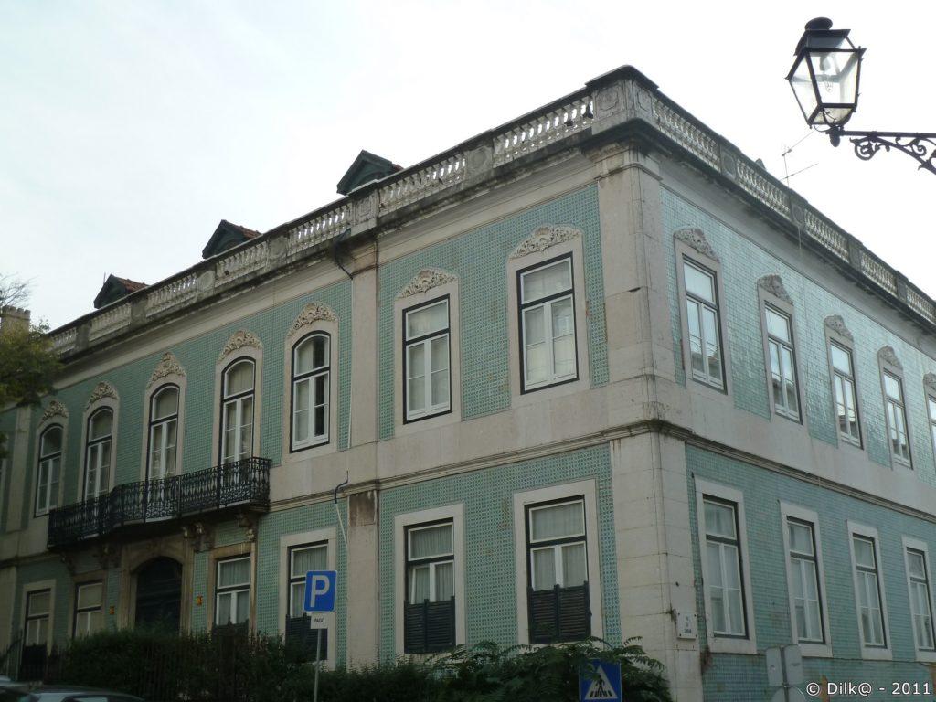Façades de maisons avec azulejos