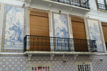 Façade avec des azulejos
