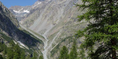 Le vallon du Sélé vu de la bosse de Clapouse