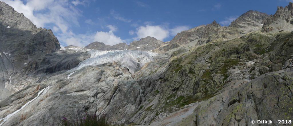 Panorama sur le Glacier Blanc