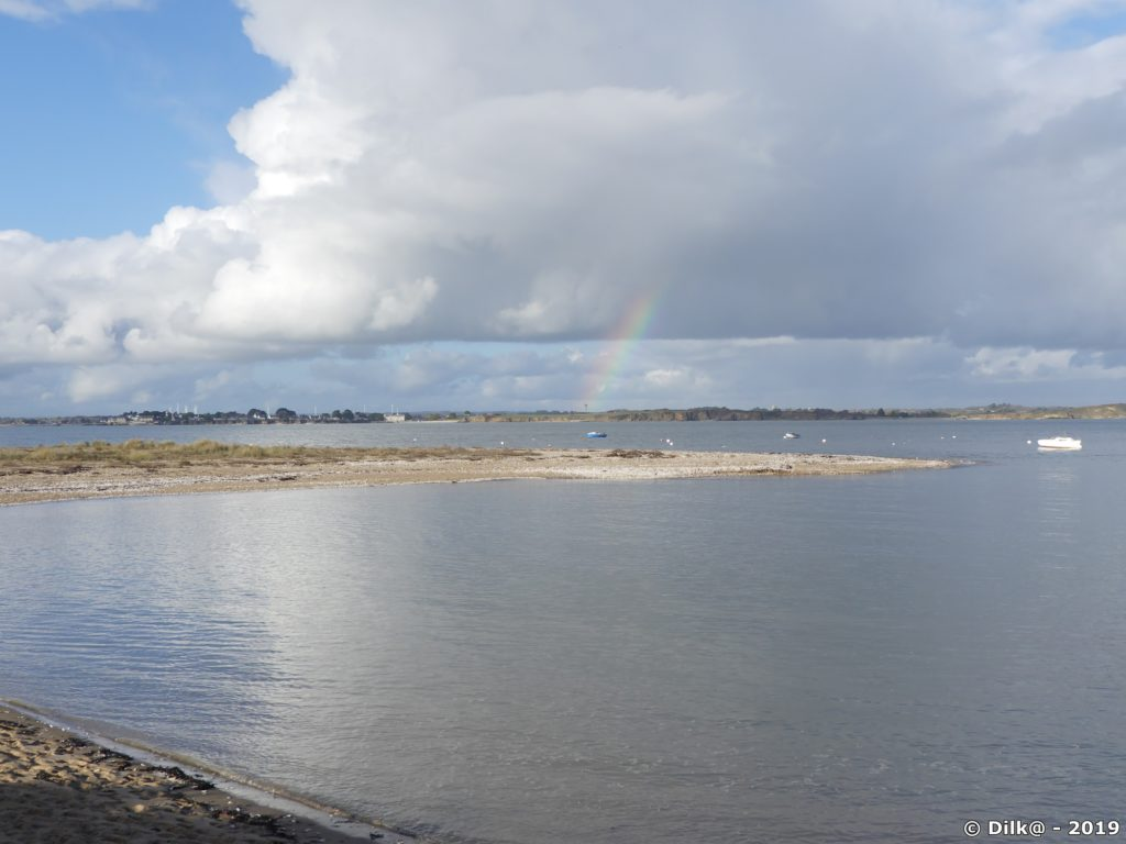 Arc en ciel au dessus de la côte de Damgan