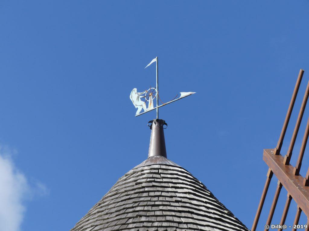 Girouette sur le moulin de la Providence