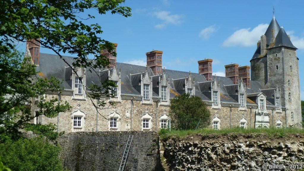 Façade du château de la Groulaie