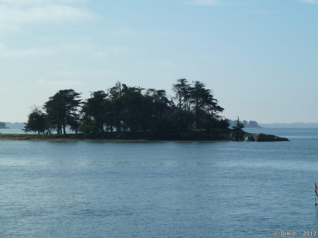 îlot au milieu du golfe du Morbihan