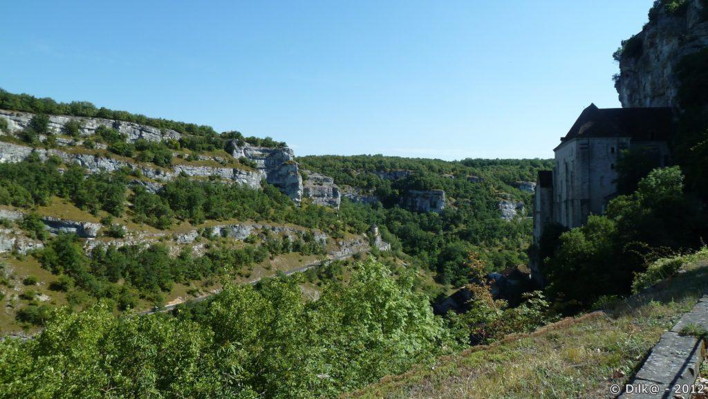 Le canyon de l'Alzou vu de Rocamadour