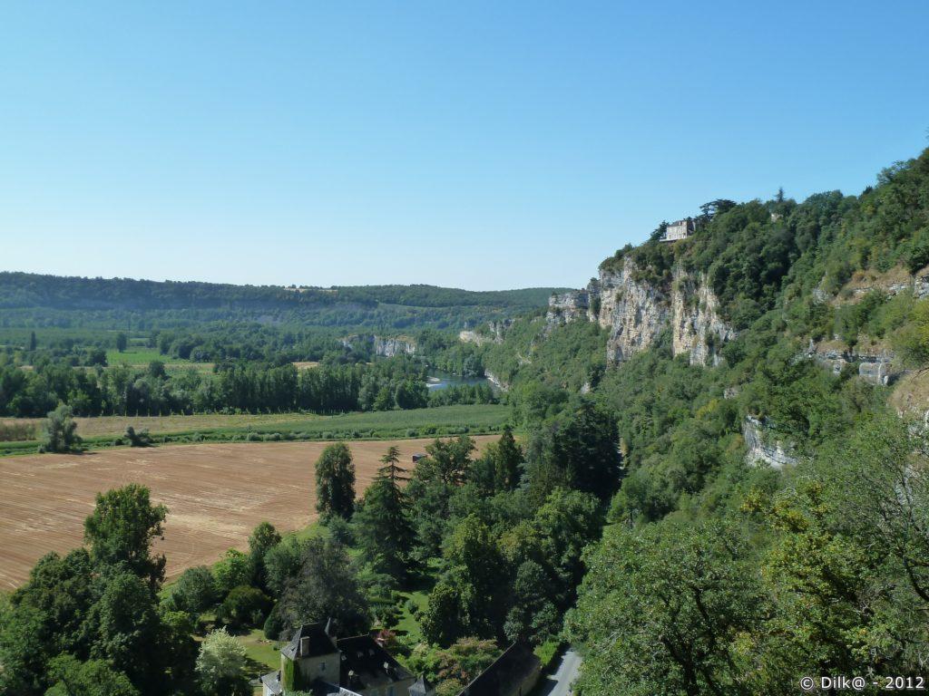 La vallée de la Dordogne vue du train