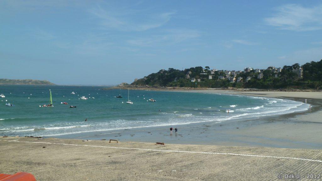 La plage de Trestraou, autour de laquelle est née l'activité balnéaire à la fin du XIXème siècle