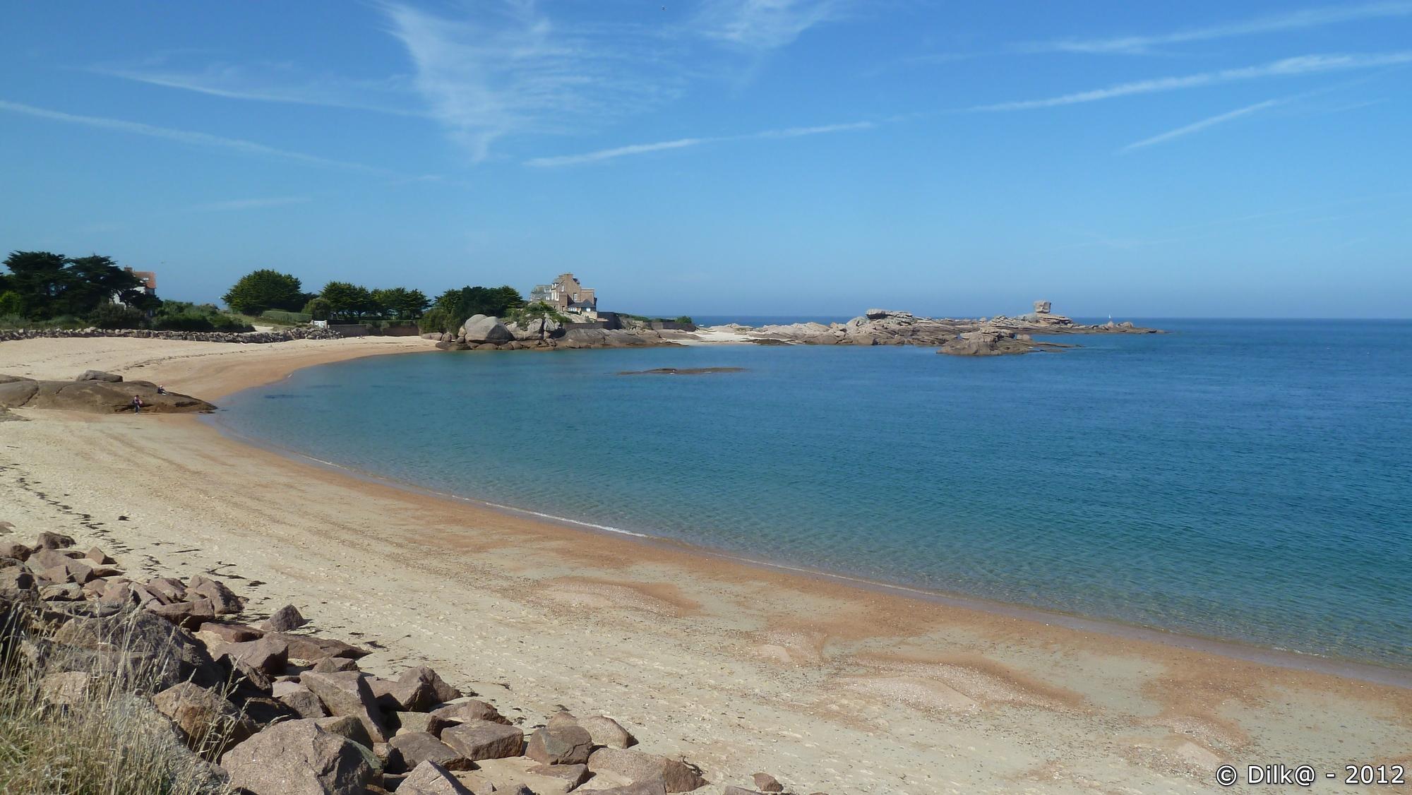 La plage de l'île Renote