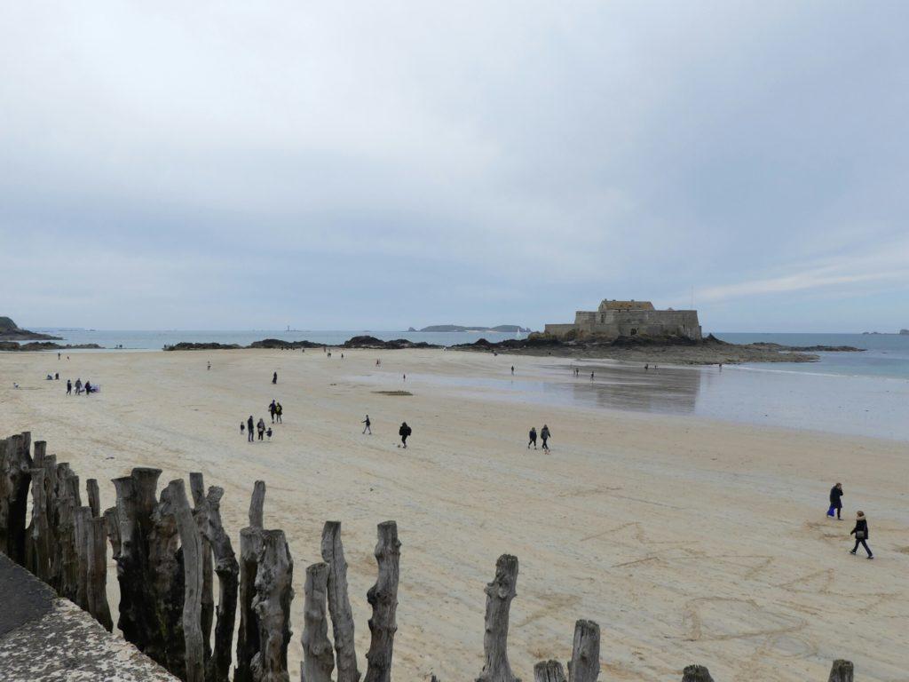 La plage du Sillon a Saint-Malo