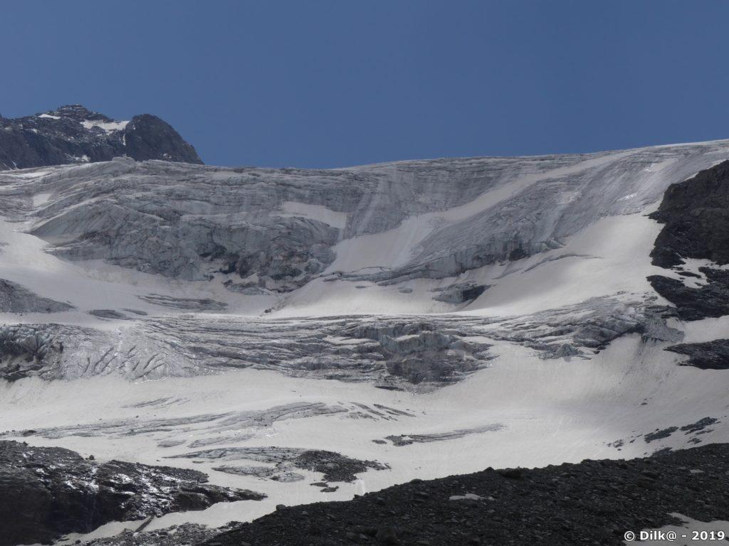Les séracs du glacier du Génépy