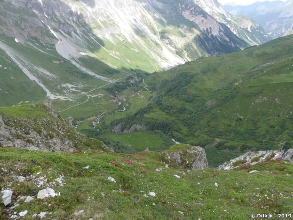 Le vallon du Doron de Chavière d'où nous sommes partis
