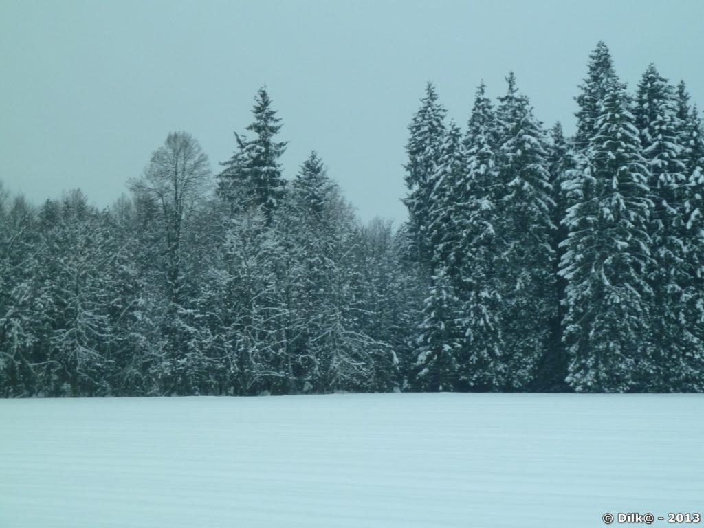 Temps neigeux pour notre arrivée