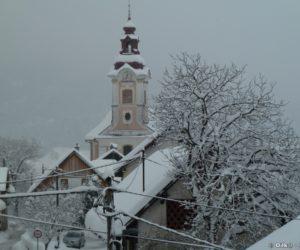 L'église de Zasip (vue de notre balcon)